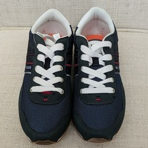 New Tommy Hilfiger unisex Navy Blue strip sneakers